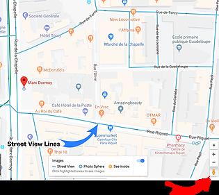 Google Maps Orange areas