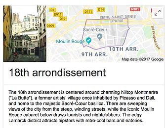 18th Arrondissement Paris