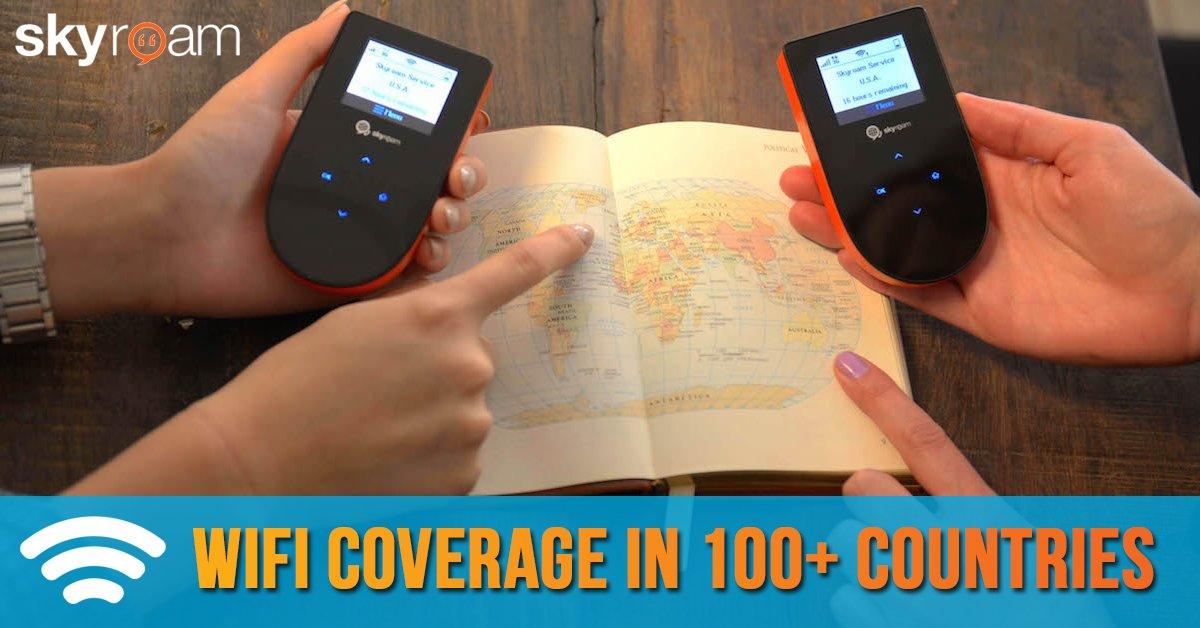Skyroam WiFi in 100 countries