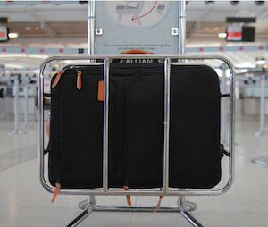 Carry on sized backpack fits airline restrictions