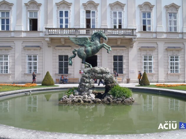 Pegasus Fountain in Mirabellgarten, Salzburg