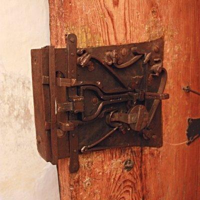 Lock on door in Germany