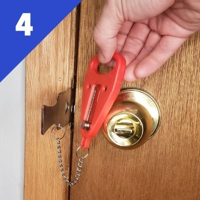 Step 4 - Hold the red handle