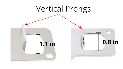 Vertical prongs on portable locks