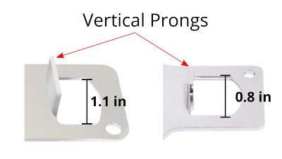 Vertical prongs on portable locks