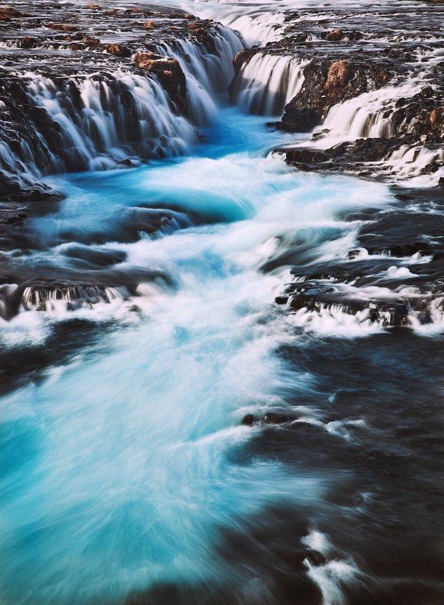 Bruarfoss waterfall on the Golden Circle