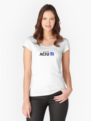 Aciu Fitted Scoop Neck T-Shirt