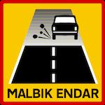 Start of gravel road slow to 80km:h