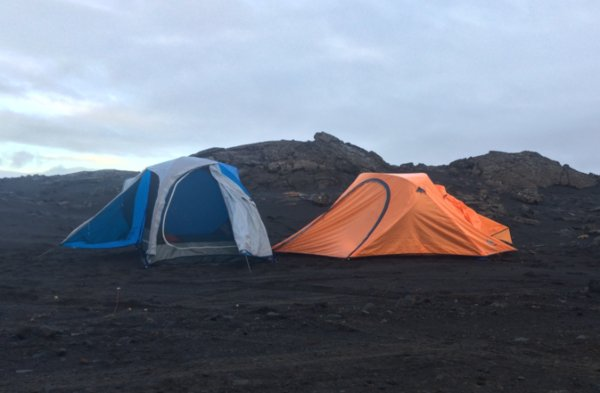 Wild camping in Iceland on Volcanic Sands